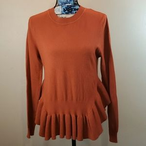 Lovemarks(boutique) rust color peplum sweater